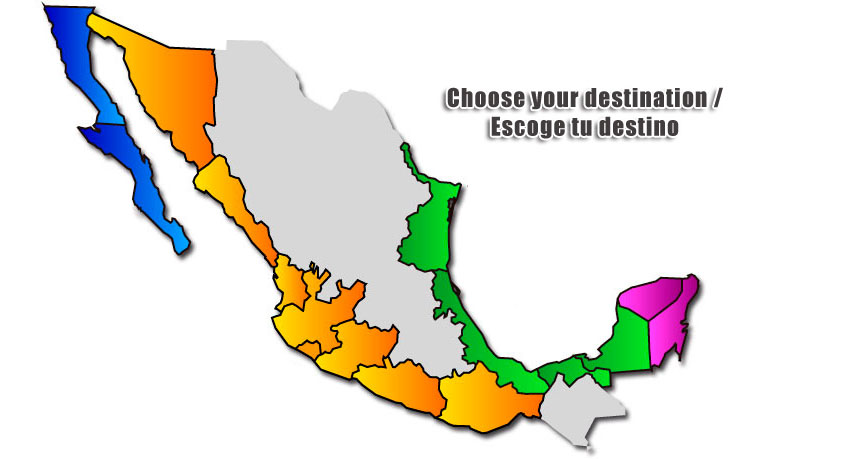 click on each kiteboarding destination for more info